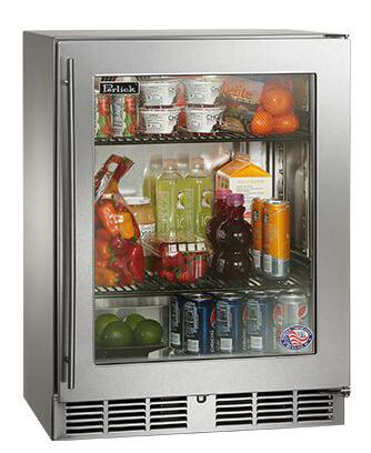Perlick HH24RS3RDNU Shallow Depth Series Compact Refrigerator with 3.8 cu. ft. Capacity