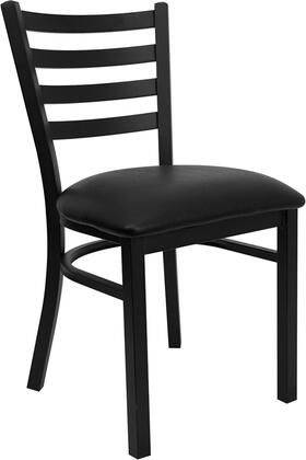 "Flash Furniture XU-DG694BLAD Hercules 33"" Restaurant Chair with Black Vinyl Seat, 2.5"" Thick Foam Padded Seat, 18 Gauge Steel Frame and CA117 Fire Retardant Foam"