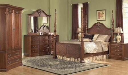 Accent HA848432BED  Queen Size Poster Bed