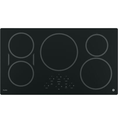 "GE Profile PHP9036 36"" Built-in Induction Cooktop with 5 Elements, Digital Touch Controls, Keep-Warm Setting and Kitchen Timer in"