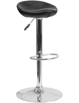 """Flash Furniture DS-8001 27""""-36"""" Vinyl Upholstered Barstool with Chrome Base, Adjustable Height, Swivel Seat and CA117 Fire Retardant Foam in"""