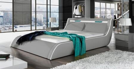 Ladeso CORFU Collection Bed with Lift Storage, Tall Wide Tufted Headrest and Leatherette