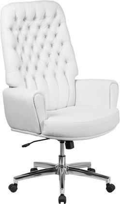 "Flash Furniture 48"" - 50"" Executive Chair with Swivel Seat, Heavy Duty Chrome Base, Pneumatic Seat Height Adjustment, Tilt Lock Mechanism and LeatherSoft Upholstery in"