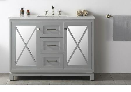 Legion Furniture Wh7448 48 Sink Vanity With 2 Glass Doors Ceramic