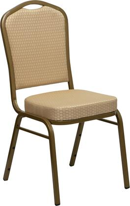 Flash Furniture FDC01ALLGOLDH20124EGG Hercules Series Contemporary Fabric Metal Frame Dining Room Chair