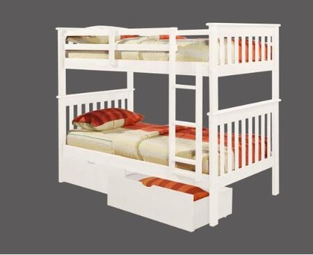 Donco 1203WTT8  Twin Size Bunk Bed