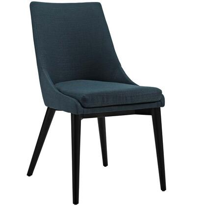 "Modway Viscount Collection 19"" Side Chair with Black Coated Tapered Legs and Fabric Upholstery"