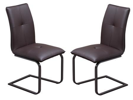 Diamond Sofa LU134DCCH Contemporary Metal Frame Dining Room Chair