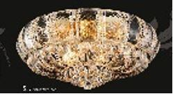 """J & P Crystal Lighting Corona Collection SP81079F-24 24"""" Wide Chandelier in X Finish"""