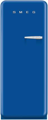 Smeg FAB28UL 9.22 cu. ft. 50's Style Refrigerator with Antibacterial Interior, Ice Compartment, Adjustable Glass Shelves, Interior Light, Bottle Storage, and Left Side Hinge in