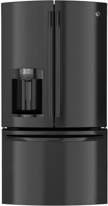 GE DFE29JGDBB  French Door Refrigerator with 28.6 cu. ft. Capacity in Black