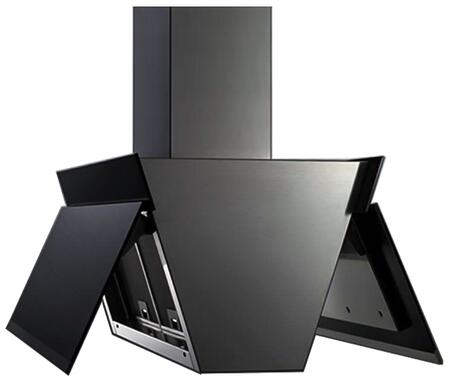 "Futuro Futuro IS36GULLWING 36"" Gullwing Island Mount Chimney Style Range Hood with 940 CFM Internal Blower, Dishwasher-safe Mesh Filter, and LED Lighting, in"