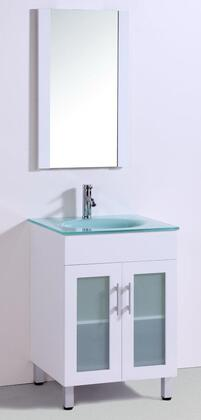 Legion Furniture WTM810XA Sink Vanity With Mirror - No Faucet in White