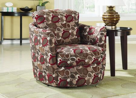 Coaster 900406 Accent Seating Series Armchair Fabric Wood Frame Accent Chair