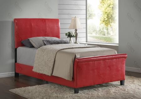 Glory Furniture G2759TBUP G2700 Series  Twin Size Sleigh Bed