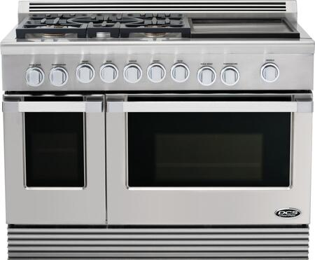 DCS RDU485GDN Professional Series Gas Freestanding Range with 5 Sealed Burner Cooktop 4.7 cu. ft. Primary Oven Capacity  Appliances Connection