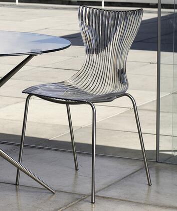 Modloft CDX202IAKA Maddox Series Modern Not Upholstered Metal Frame Dining Room Chair