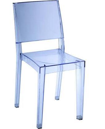 EdgeMod EM118SMK Burton Series Modern Plastic Frame Dining Room Chair