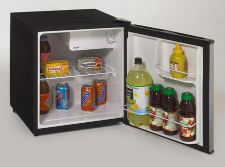 Avanti RM1732PS  Compact Refrigerator with 1.7 cu. ft. Capacity in Black with Platinum Finish