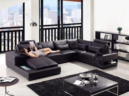 VIG Furniture VGYIT2852 Divani Casa Diamond Series Stationary Leather Sofa