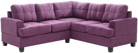 Glory Furniture G517BSC G510 Series Stationary Suede Sofa