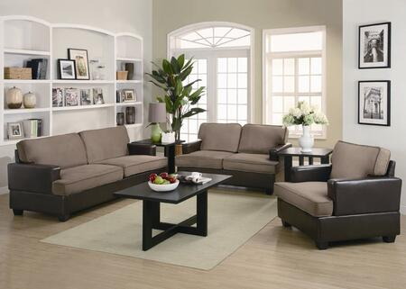 Coaster 500110 Casual Microfiber fabric Living Room Set