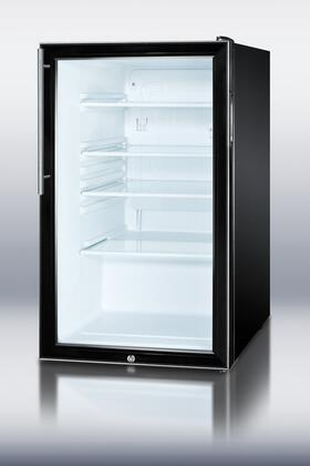 "Summit SCR500BL7HVADA 20"" Freestanding Counter Depth Compact Refrigerator with 4.1 cu. ft. Capacity, 3 Glass Shelves"