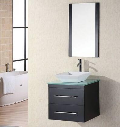 "Design Element DEC071C Elton 24"" Single Sink Vanity Set with"