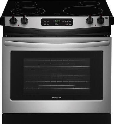"""Frigidaire FFED3026Tx 30"""" ADA Compliant Drop In Electric Range with 4.6 cu. ft. Capacity, 4 Elements, Self-Clean Function, 2 Racks, and Auto Oven Shut-Off, in"""