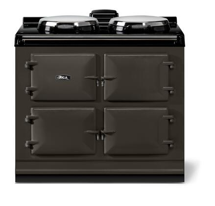 "AGA ATC3PWT 40"" Total Control Series Slide-in Electric Range with Smoothtop Cooktop, 1.5 cu. ft. Primary Oven Capacity, in Pewter"