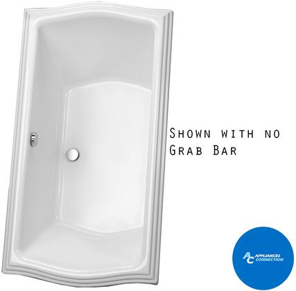 Toto ABY781N01Y Clayton Series Drop-In Soaker Bathtub with Acrylic Construction, Slip-Resistant Surface, and Grab Bar, Cotton Finish