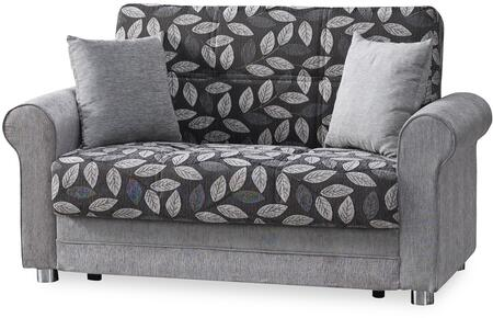 "Casamode Rio Grande Collection RIO GRANDE LOVE SEAT 63"" Convertible Love Seat with Chenille Fabric Upholstery, Rolled Arms and Under Seat Storage in"