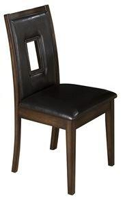 Jofran 431516KD Contemporary Leather Wood Frame Dining Room Chair