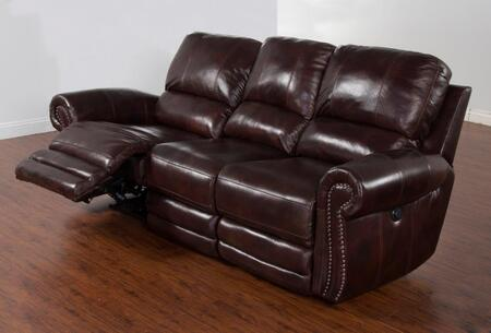 Sunny Designs Colorado Bonded Leather Reclining Sofa 5003BUL3P ...