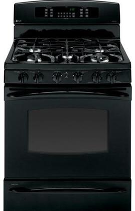 GE PGB930DETBB Profile Series Gas Freestanding Range with Sealed Burner Cooktop, 5.4 cu. ft. Primary Oven Capacity, Oven in Black