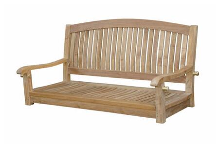 Anderson SW048R Del-Amo Series Accent Wood Frame Armed Patio Benches
