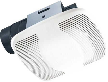 Air King BFQxx Exhaust Fan with x CFM, PC/ABS Polymeric Housing, and, Polymeric Grill, in White