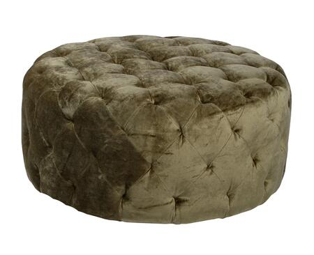 Armen Living LC5005OTXF Victoria Ottoman with Button-tufting Detail and Fabric Upholstery Finish in