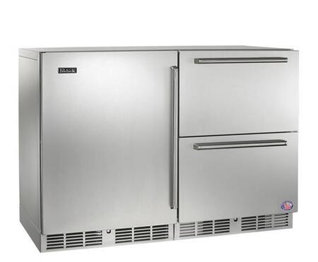 Perlick HP48RRS1L5 Signature Series  Counter Depth Side by Side Refrigerator with 12.0 cu. ft. Capacity