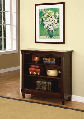 Powell 716250Brown Cherry Series  Bookcase
