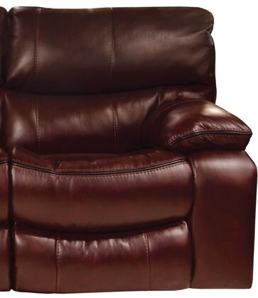 "Catnapper Camden Collection 4080-2- 42"" Rocker Recliner with Black Welt Stitching, Faux Leather Upholstery and Bucket Seat Design in"