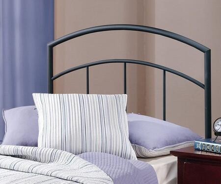 Hillsdale Furniture 1169H Julien Open Frame Headboard with Frame Included, Vertical Line Design and Metal Construction in Textured Black Color