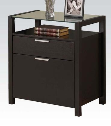 "Acme Furniture 92054 26"" Wood Transitional File Cabinet"