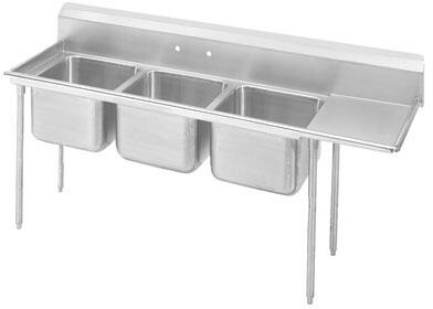 Three Compartment, Right Side Drainboard