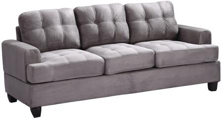 Glory Furniture G513AS  Stationary Suede Sofa