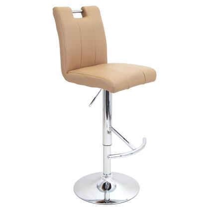 "LumiSource BAR BS-TW-BAR 37"" - 47"" Barstool with 360-Degree Swivel, Adjustable Height and PU Leather Upholstery in"