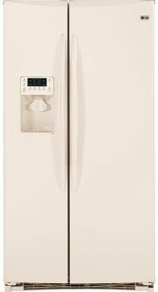 GE PSHF6RGXCC  Side by Side Refrigerator with 25.5 cu. ft. Capacity in Bisque