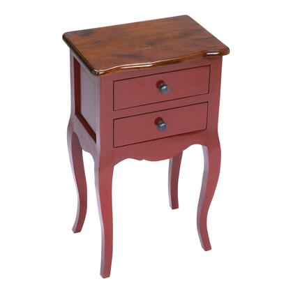 Sterling 6500000 Amador Series Contemporary Wood Rectangular 2 Drawers End Table