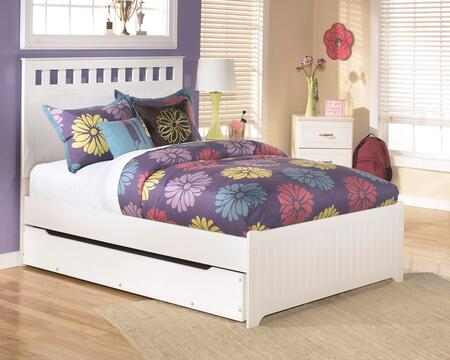 Milo Italia BR-174BEDWTRUNDLE Dayanara Collection x Size Panel Bed with Trundle in White