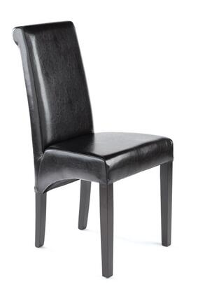 Tag 390089 Contemporary Leather Wood Frame Dining Room Chair
